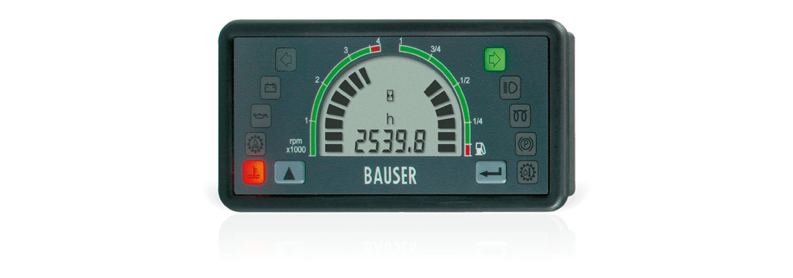 BAUSER instrument cluster Type 808 – shapely, functional, well thought out