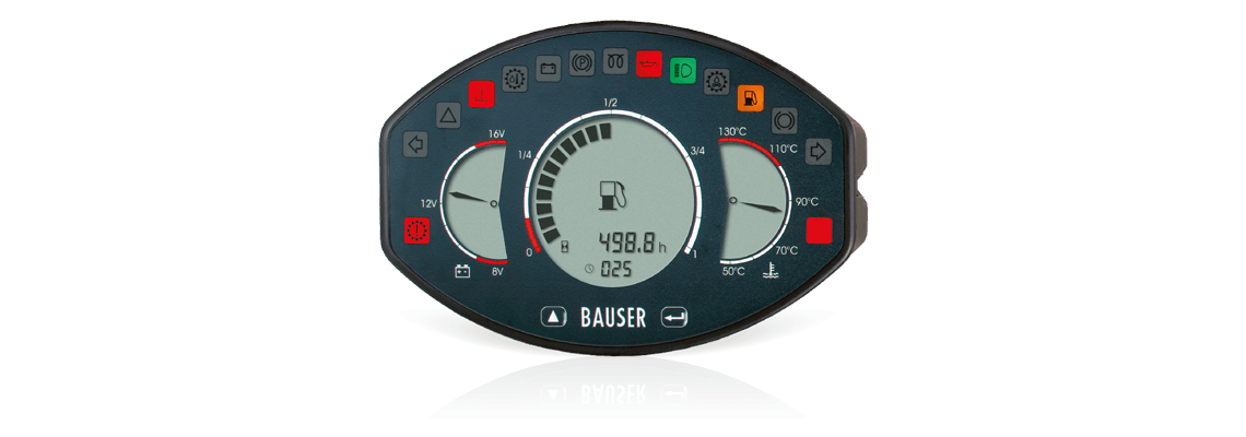 BAUSER instrument cluster Type 809 – unconventional, innovative, safe