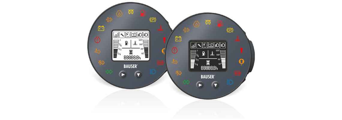 BAUSER instrument cluster Type 819 – visualise, communicate and control via graphic displays