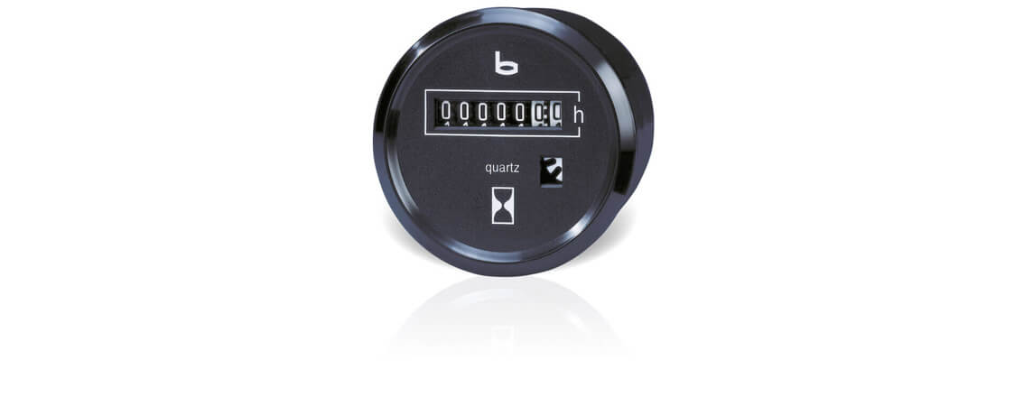 Electromechanical hour counters 587.10.2, 588.10.2